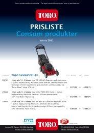 Prisliste Consum+Proline marts2011