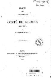 Proces pour la possession du comte de Bigorre (1254-1503)