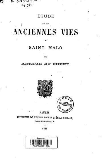saint. malo - Bibliothèque numérique de l'école nationale des chartes