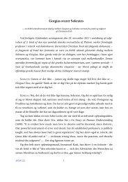 Gorgias svarer Sokrates - Aigis - Københavns Universitet