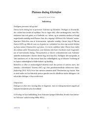 Oversættelse og noter til Platons dialog Kleitofon - Aigis