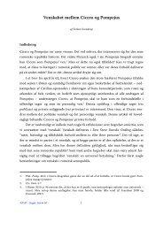 Torben Svendrup, Venskabet mellem Cicero og Pompejus - Aigis