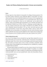 Tanker om Platons dialog Statsmanden i Gorms nyoversættelse - Aigis