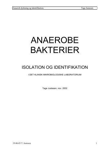 Anaerobe bakterier, isolation og identifiaktion
