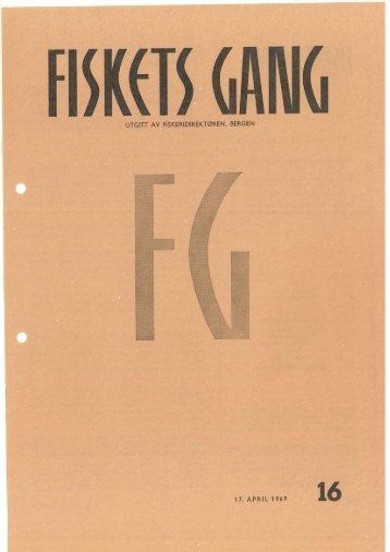 Fiskets Gang, nr 16, 1969