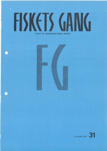 Fiskets Gang, nr 31, 1971