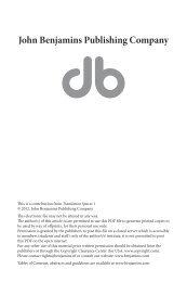 Considerations for translation rights 2.0 - John Benjamins
