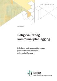 Boligkvalitet og kommunal planlegging - Husbanken