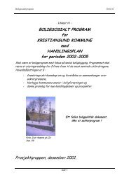 BOLIGSOSIALT PROGRAM for KRISTIANSUND ... - Husbanken