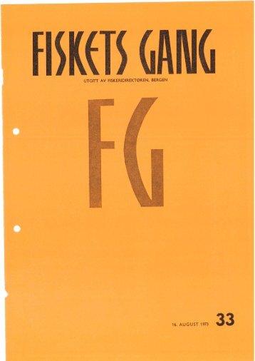 Fiskets Gang, nr 33, 1973