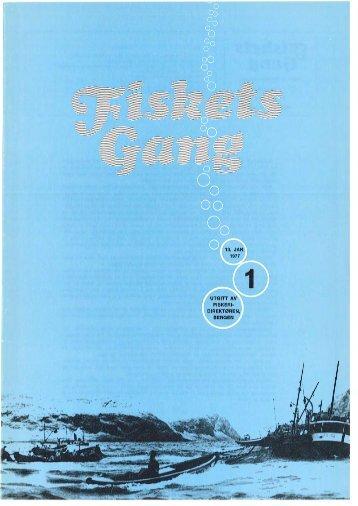 Fiskets Gang. Nr 1. 1977 - Havforskningsinstituttet