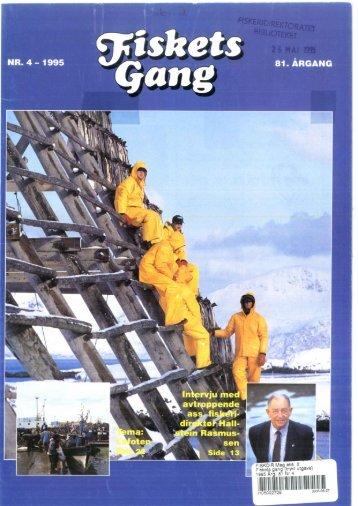 Fiskets Gang. Nr 4. 1995 - Havforskningsinstituttet
