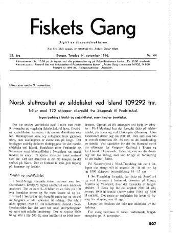 Fiskets Gang. Nr. 44-1946. 32. årgang