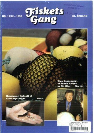 Fiskets Gang. Nr 11-12. 1995 - Havforskningsinstituttet