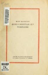 Hans Majestæt Kong Christian IX's Forældre: Hertug Vilhelm af ...
