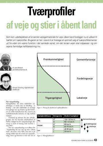 Dansk Vejtidsskrift 2006/11 Tværprofiler af veje og stier i åbent land