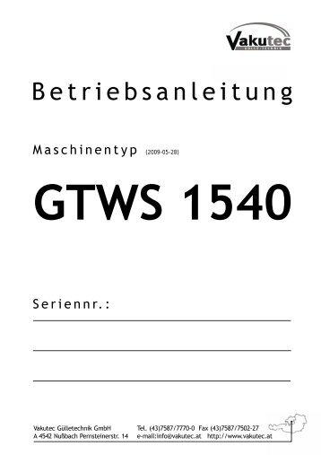GTWS 1540 - Vakutec