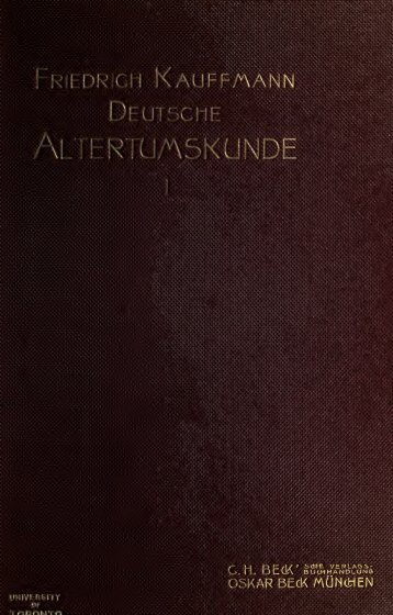 Deutsche Altertumskunde