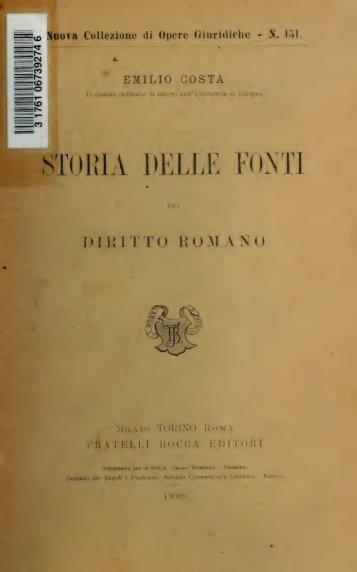 Storia delle fonti del diritto romano