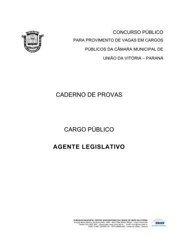 Agente Legislativo - Concursos - Uniuv