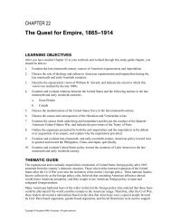 The Quest for Empire, 1865–1914 - Cengage Learning
