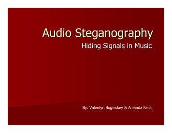 Audio Steganography
