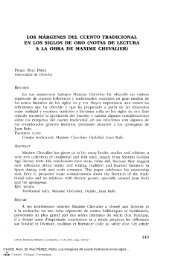 Los márgenes del cuento tradicional en los siglos de oro. (Notas de ...