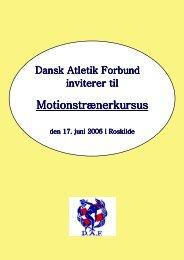 Motionstrænerkursus - Dansk Atletik Forbund