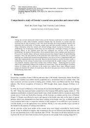 Comprehensive study of Estonia's coastal zone protection
