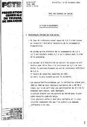 FEDERATION GENERALE DU TRAVAIL DE BELGIQUE