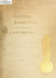 A catalogue of the Egyptian antiquities in the - New York University