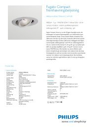 Product Leaflet: Fugato Compact MBS/LBS/QBS264 ... - Philips