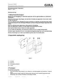 1 Sikkerhetsinformasjon 2 Apparatets oppbygning ... - Download - Gira