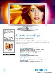 Leaflet 37PFL7675H_12 Released Norway (Norwegian ... - Philips