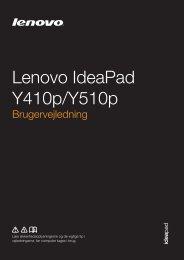 Y410p&Y510p UG DK - Lenovo