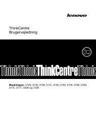 ThinkCentre Brugervejledning - Lenovo