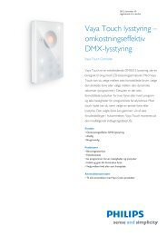 Product Familiy Leaflet: Vaya Touch Controller - Philips