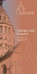 Liturgie und Konzert - Bistum Mainz