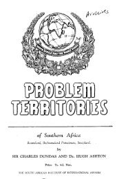 Problem Territories of Southern Africa