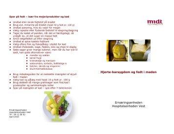 Hjerte-karsygdom og fedt i maden Ernæringsenheden ... - e-Dok