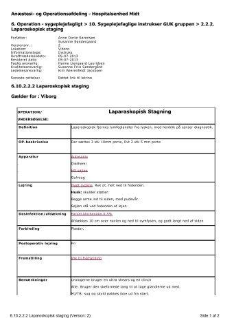 Laparaskopisk Stagning - e-Dok