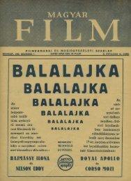Magyar Film - 49. sz. (1940. december 7.) - EPA