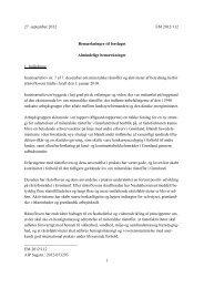 Bemærkninger til forslaget - Lovgivning