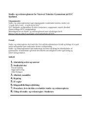 Studie- og ordensreglement for de tekniske gymnasier ... - itslearning