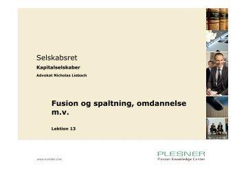 Fusion og spaltning, omdannelse m.v. - itslearning