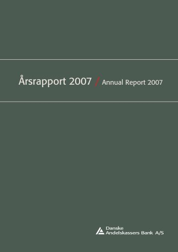 Årsrapport 2007 / Annual Report 2007