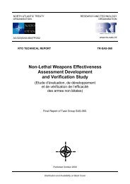 Non-Lethal Weapons Effectiveness Assessment Development and ...