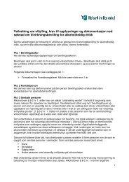 Veiledning om utfylling, krav til opplysninger og ... - Helsedirektoratet
