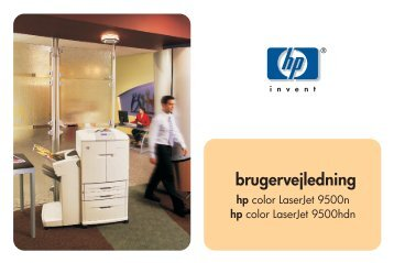 HP color LaserJet 9500n and 9500hdn user guide - DAWW