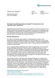 Om fritak fra forvaltningsmessig taushetsplikt for ... - Helsedirektoratet
